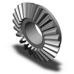 Straight Bevel Gear 3D Model